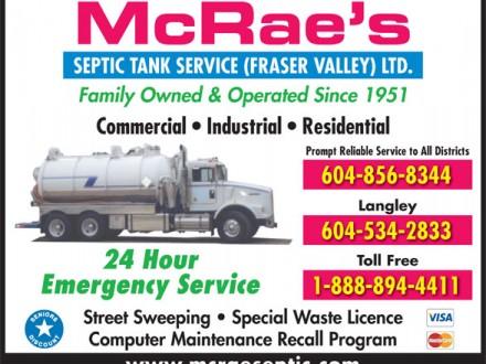 Mcrae's septic tank service